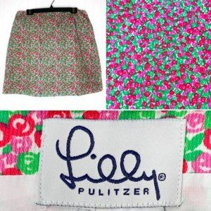 Lilly Pulitzer White Label Skirt Pink Red Green